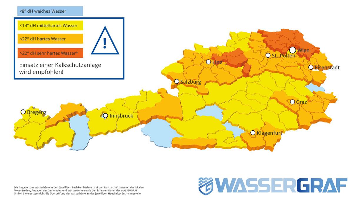 Karte Wien Niederosterreich.Wasserharten In Niederosterreich Wassergraf Wasseraufbereitung